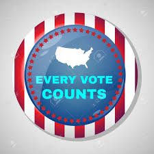 button that says every vote counts