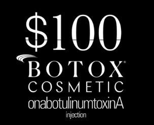 Botox $100 Rebates