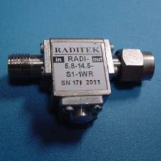 Tri-Band Coaxial Isolator or Circulator