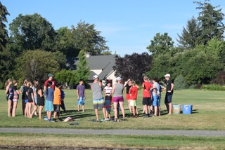 Youth group during the summer of 2018