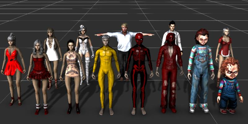 NEW FREE 13 Characters for i-Clone in i-Avatar format