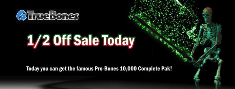 Truebones 1/2 Off Sale!