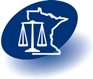 Minnesota Office of Justice Programs scales of justice logo
