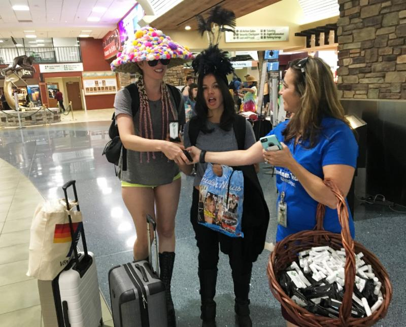 Airport's Kindness Team Welcomed Burners with Gifts