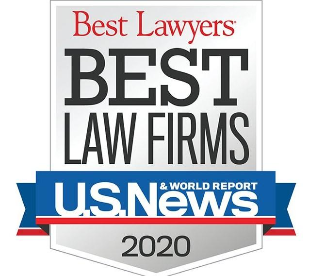 Best Law Firms 2020 Official Badge from Best Lawyers US News & World Report
