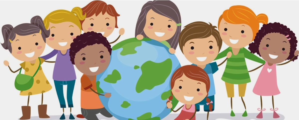 Group of diverse children