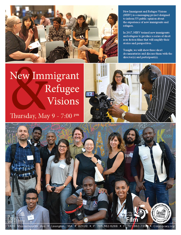 New Immigrant & Refugee Screen and Discuss poster for event