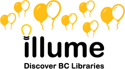 Illume logo with balloons