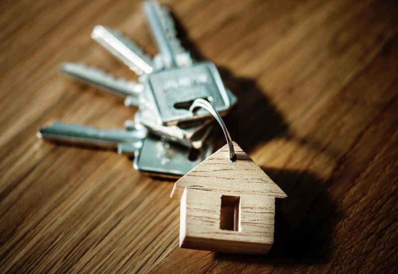 Keychain with key