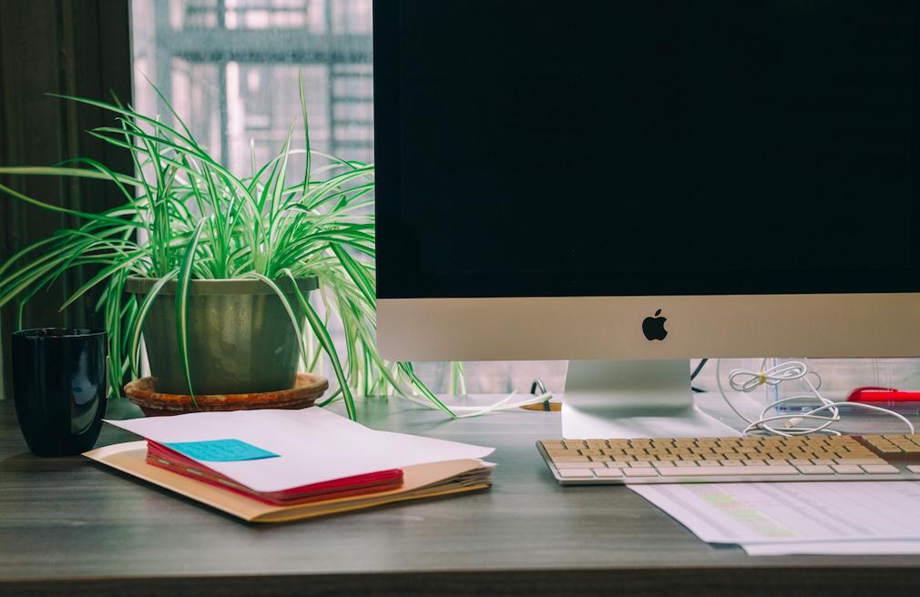 Image of an office desk. Photo by Michael Aleo on Unsplash