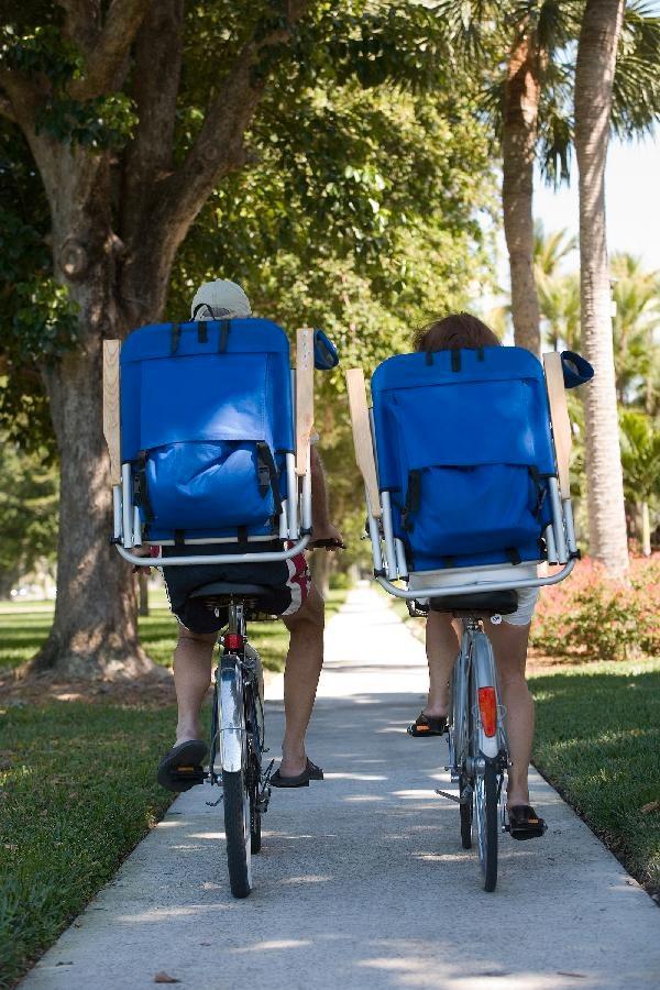 biking backpackers