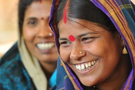 photo of two Indian women smiling