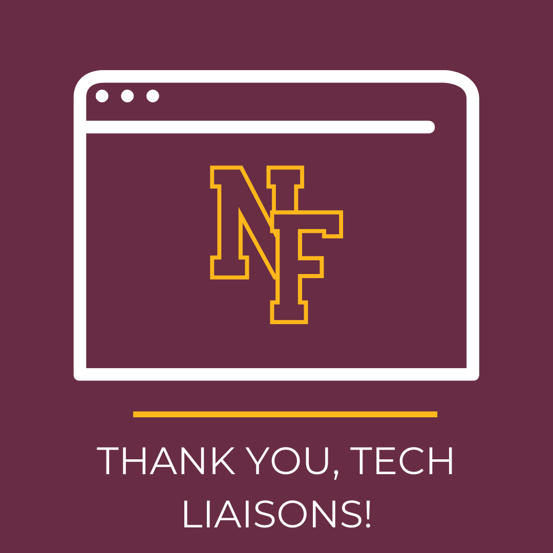 Text saying Thank You Tech Liaisons