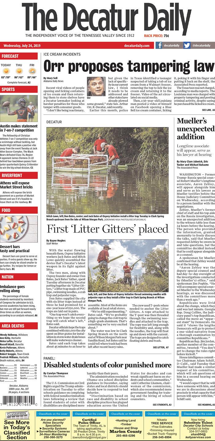 Daily News Digest - July 24, 2019 | Alabama Daily News