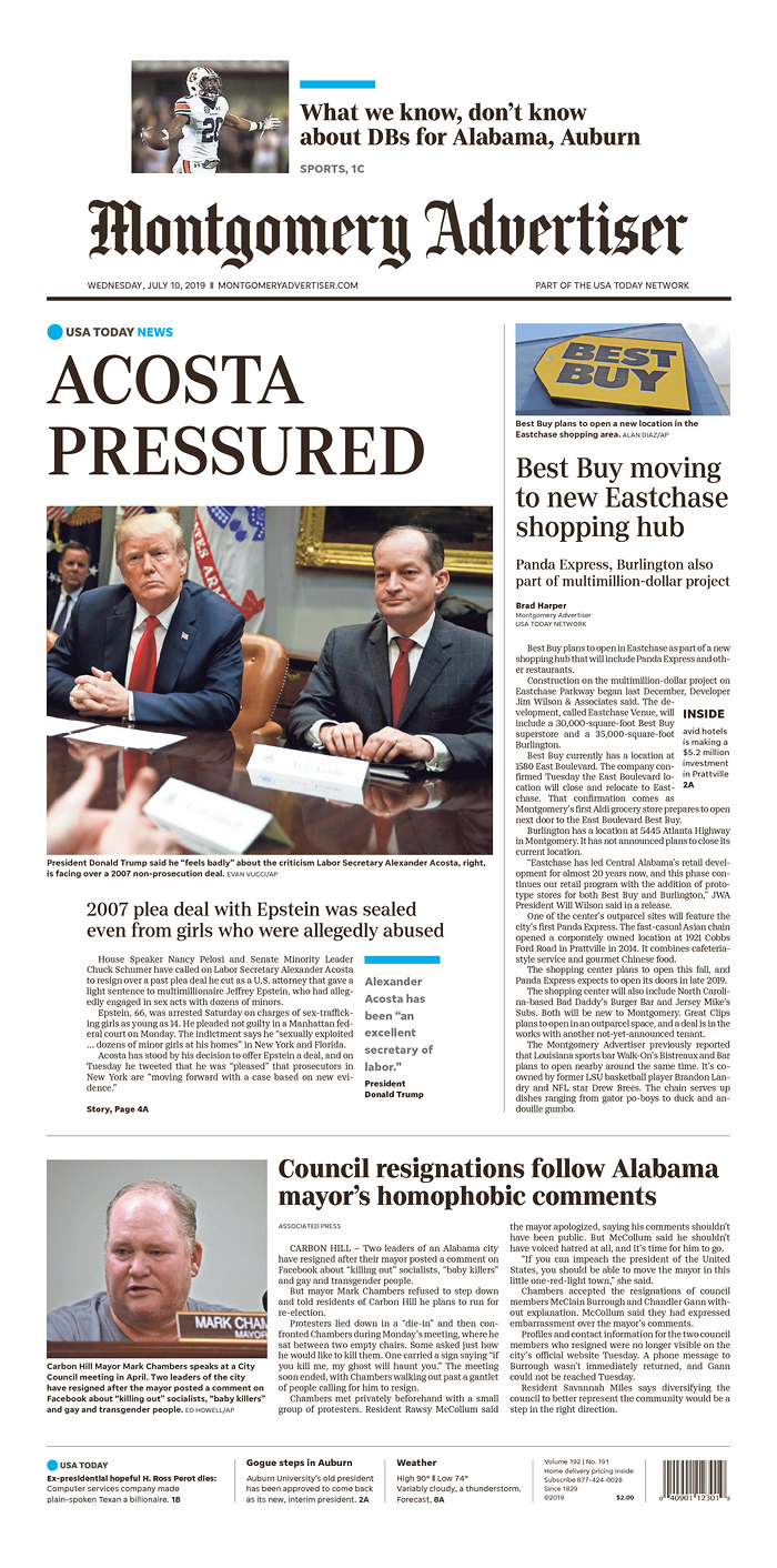 Daily News Digest - July 10, 2019 | Alabama Daily News