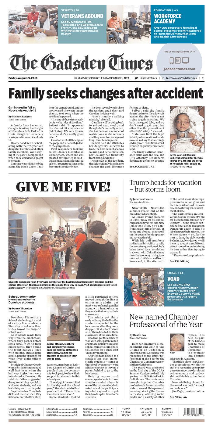 Daily News Digest - August 9, 2019 | Alabama Daily News