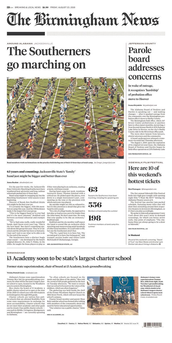 Daily News Digest - August 23, 2019 | Alabama Daily News