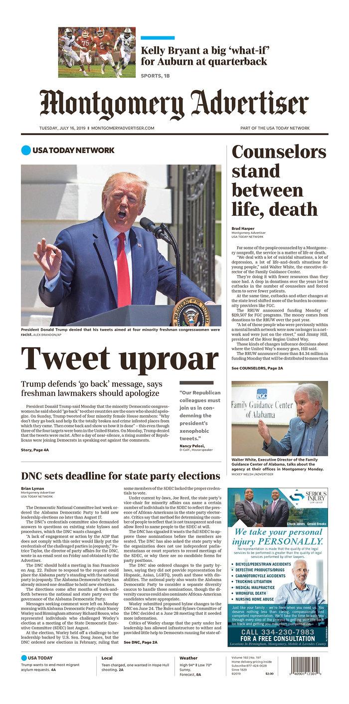 Daily News Digest - July 16, 2019 | Alabama Daily News