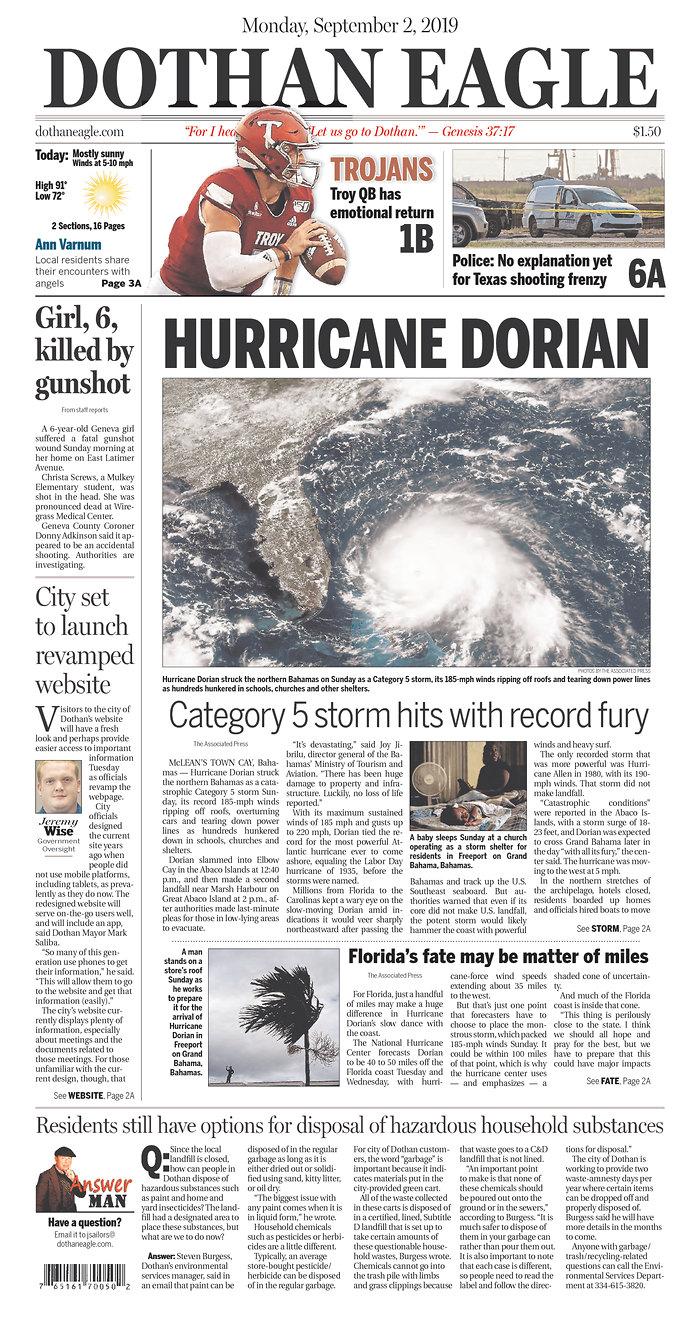 Daily News Digest - September 2, 2019 | Alabama Daily News