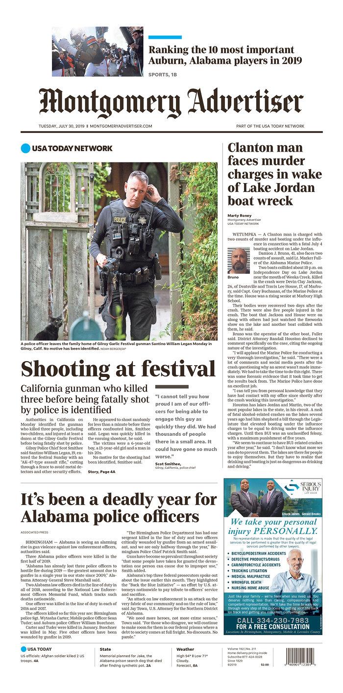 Daily News Digest - July 30, 2019 | Alabama Daily News