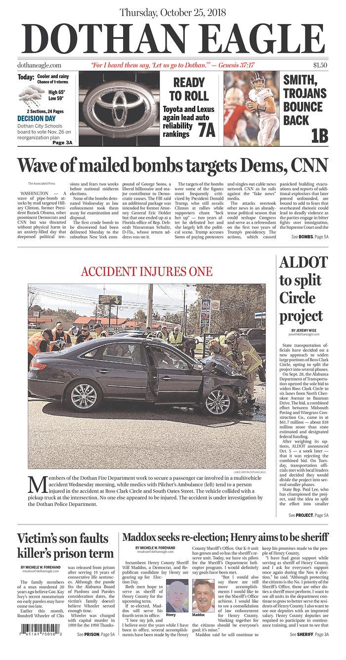 Daily News Digest - October 25, 2018 | Alabama Daily News