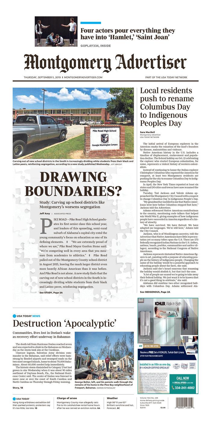 Daily News Digest - September 5, 2019 | Alabama Daily News