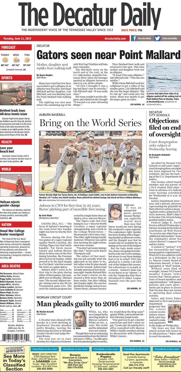 Daily News Digest - June 11, 2019 | Alabama Daily News