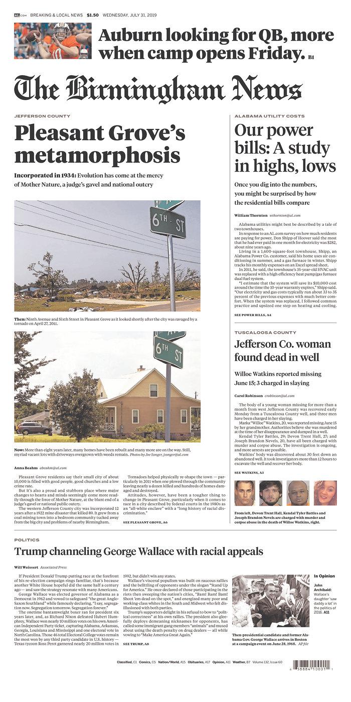 Daily News Digest - July 31, 2019 | Alabama Daily News