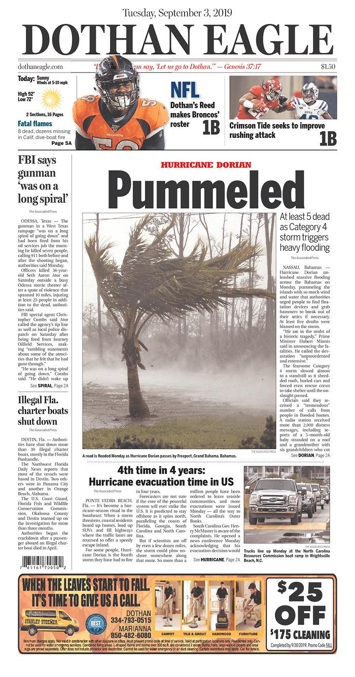 Daily News Digest - September 3, 2019 | Alabama Daily News
