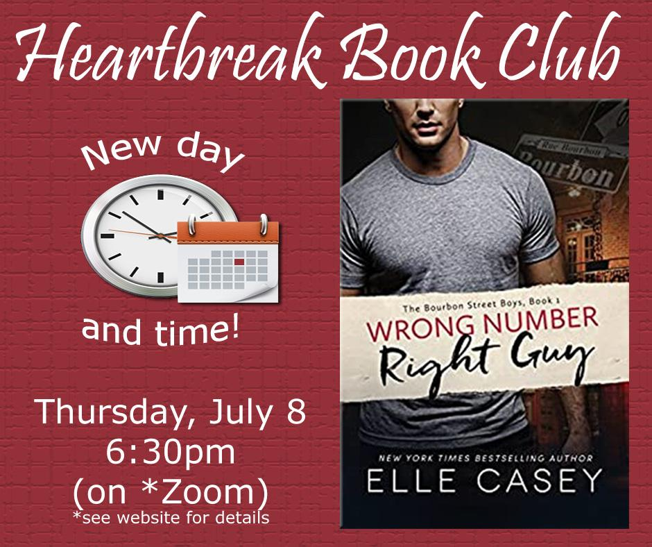 Heartbreak Book Club new day and time