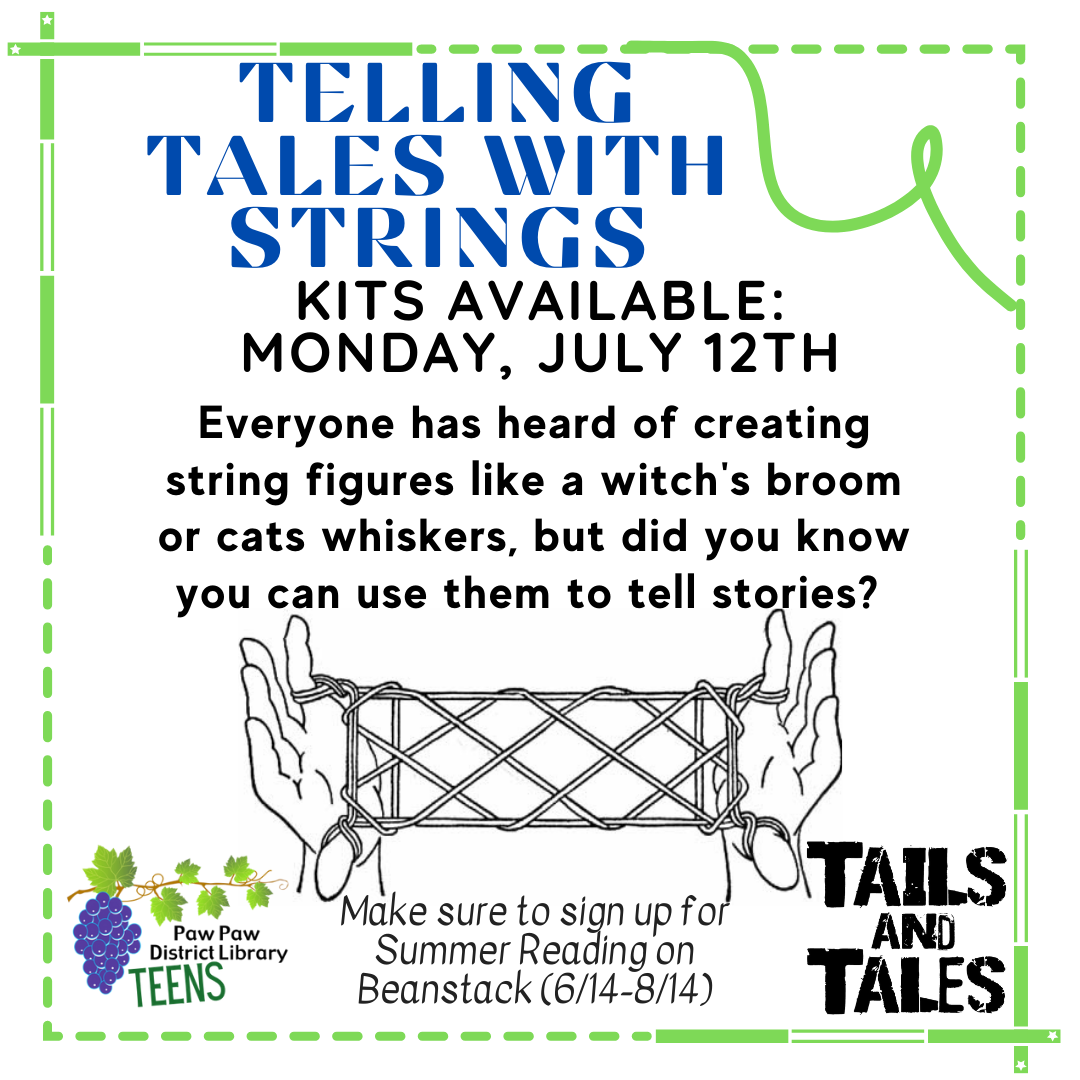 Teen Telling Tales with Strings kit available Monday July 12th.