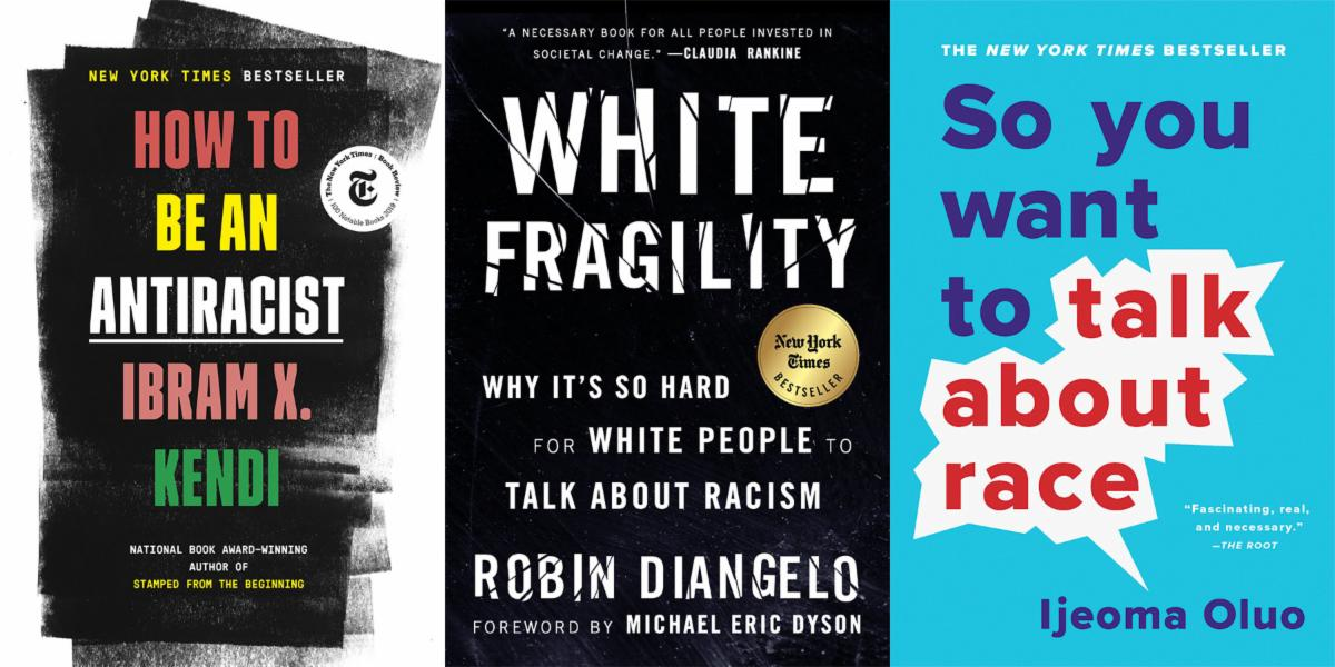 A collection of anti-racist book titles