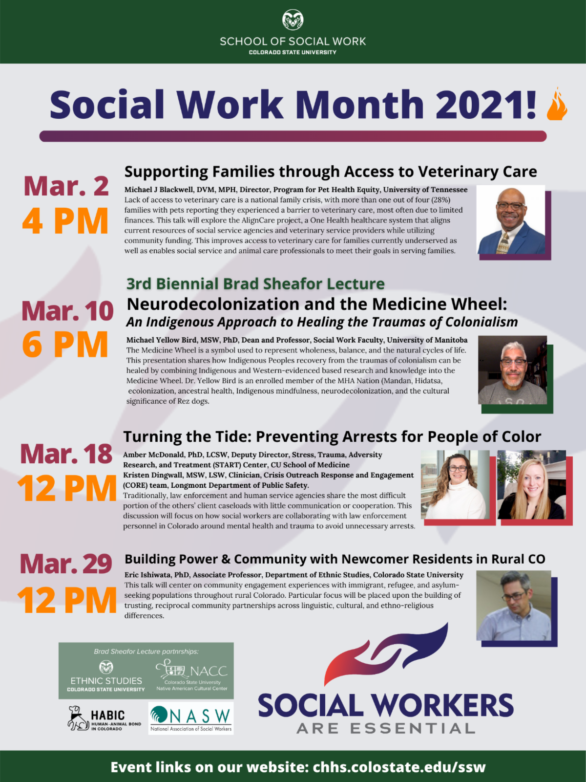 Social work month 2021. Follow the image link for more information