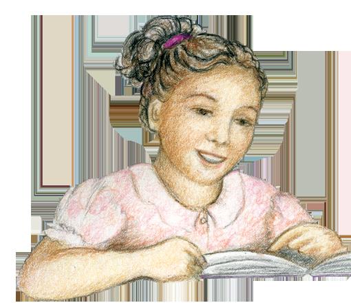 Girl character from Semillitas de aprendizaje