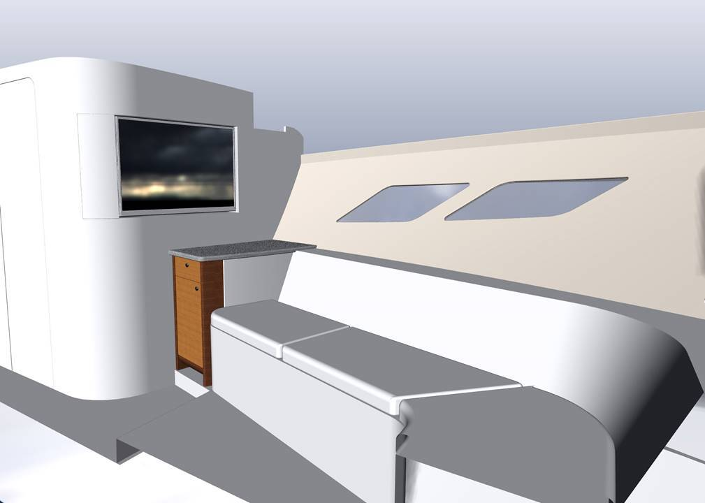 3D model of 477 Evolution cabin seating