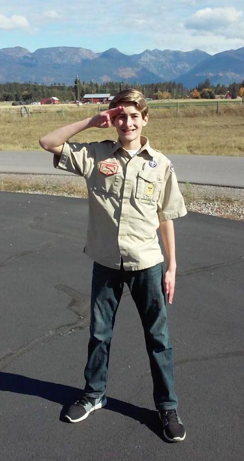 Kyle in scout uniform