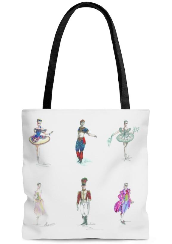 Moscow Ballet's Great Russian Nutcracker Costume Design Reusable Tote Bag
