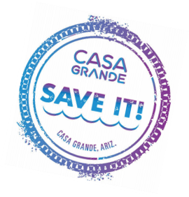 Casa Grande Water SAVE IT Campaign Logo