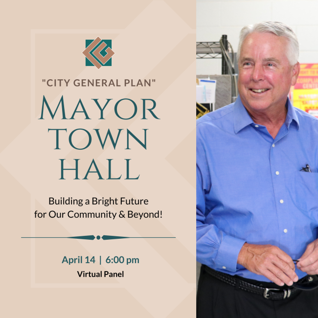 Mayor Town Hall on City General Plan