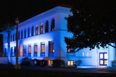 Casa Grande City Hall Lit Blue to Honor Healthcare Workers