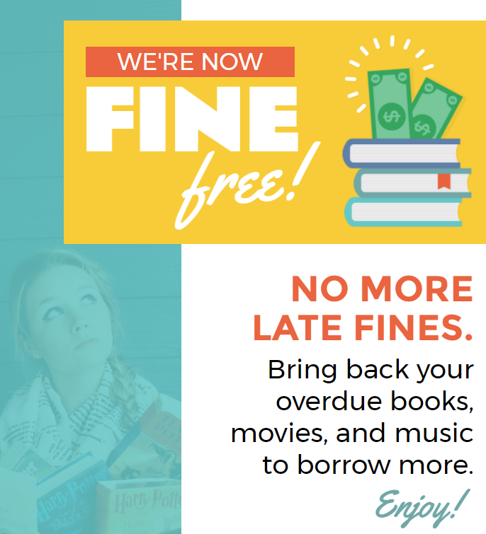 No Library Late Fee Announcement