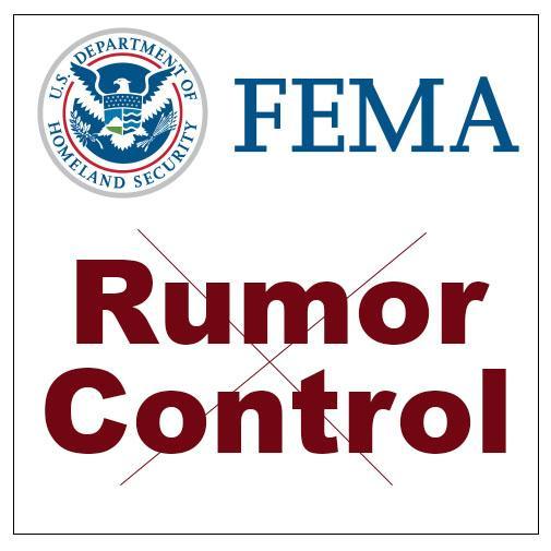 FEMA Rumor Control