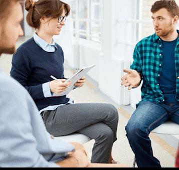 Counseling group in discussion
