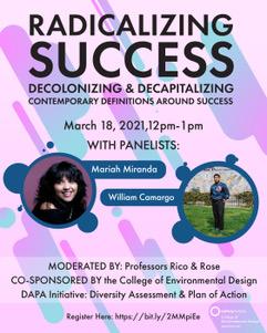 Radicalizing Success moderated by Juliana Rico and Matthew Rose