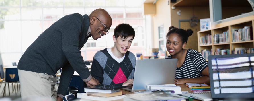 architects foundation diversity advancement scholarship image of three students