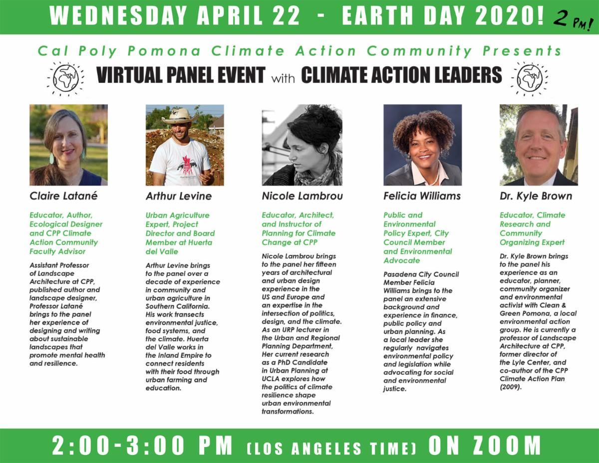 cpp climate action community earth day 2020 virtual panel