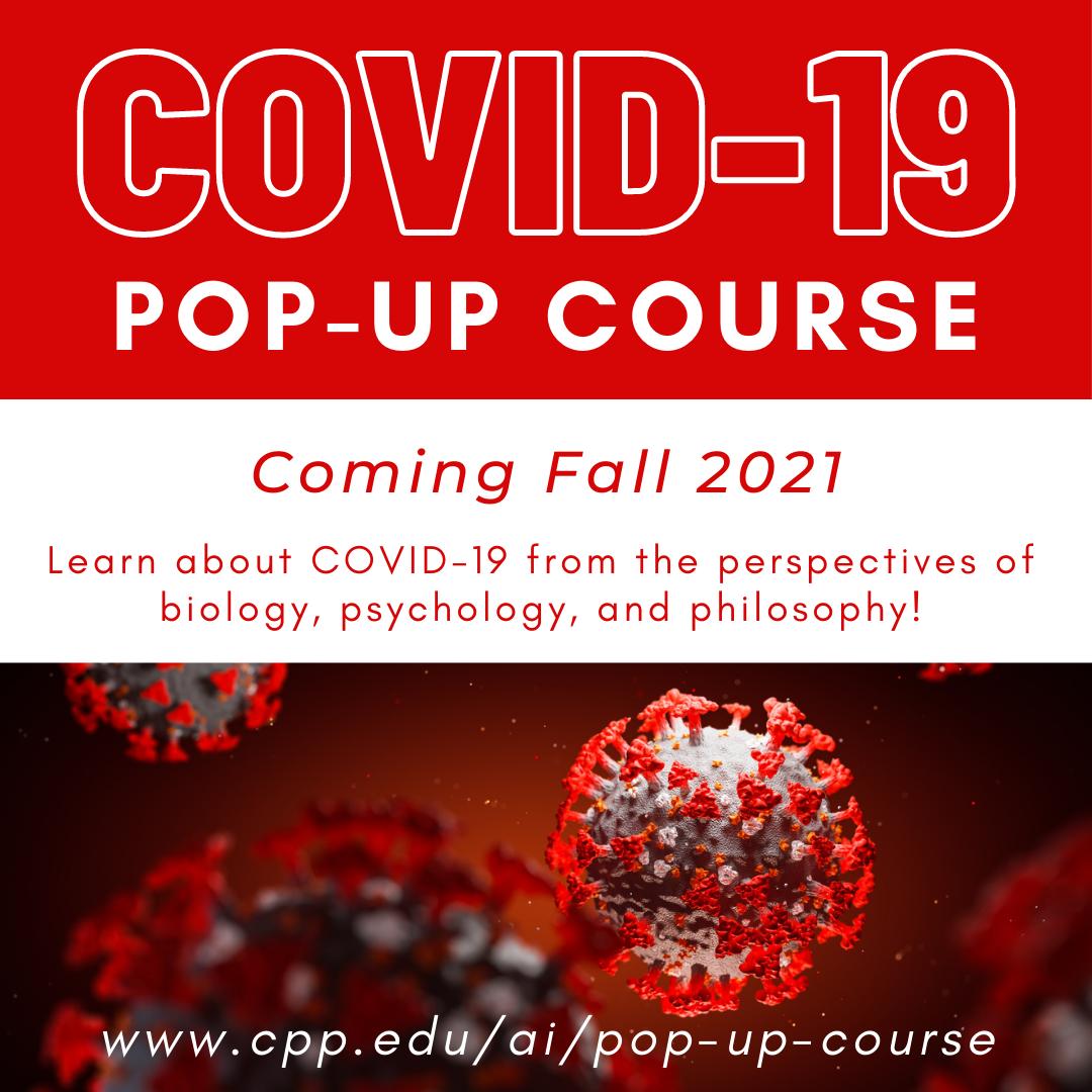 COVID 19 pop up course image of coronavirus