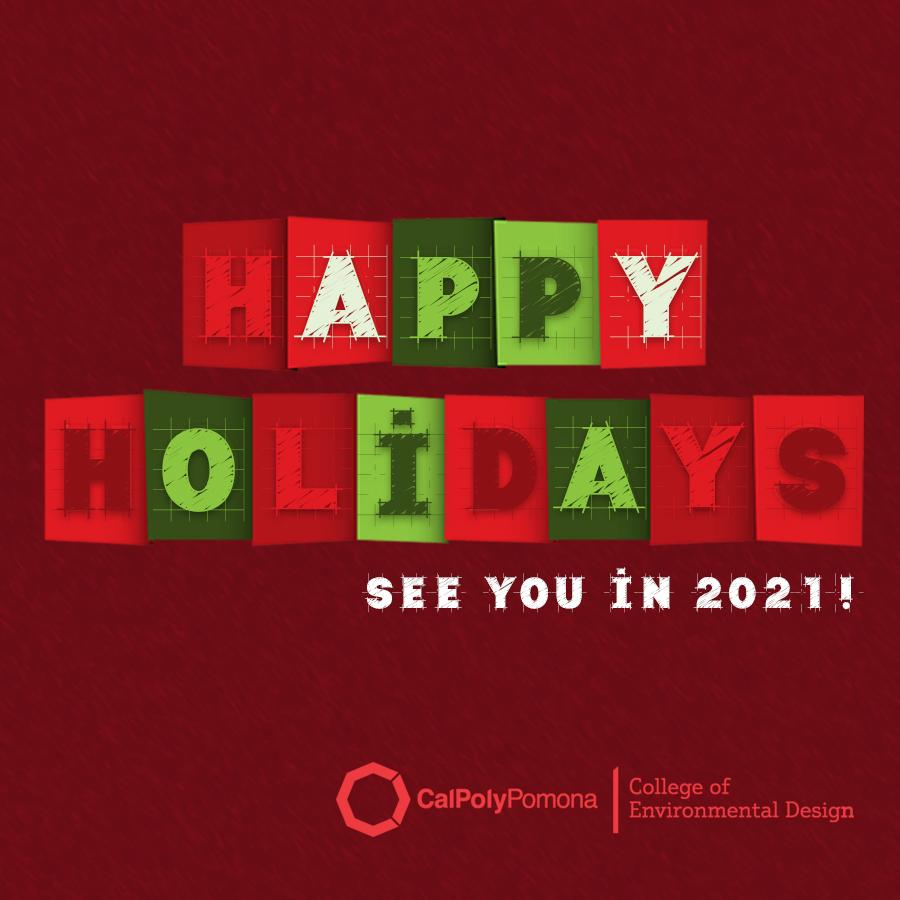 happy holidays from env red card