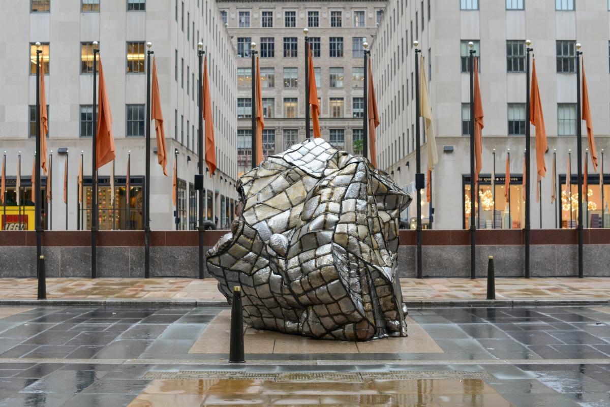 Beatriz Cortez Glacial Erratic 2020 Commissioned by Frieze LIFEWTR Sculpture Prize Courtesy of the artist and Commonwealth and Council