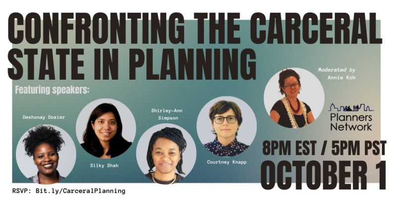 confronting the carceral state in planning planners network